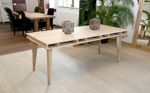 Houten tafel Two plank table eiken