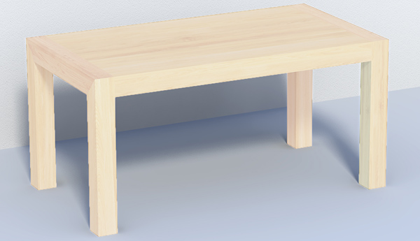 houten tafel maple norfolk blokpoottafel